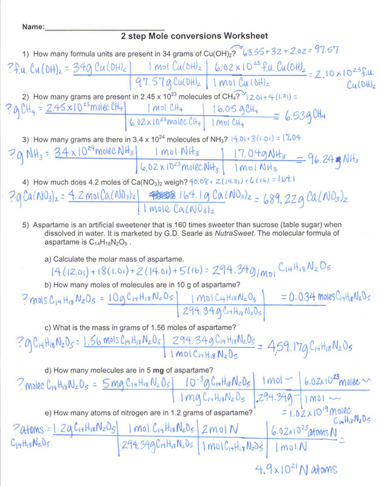Printables Mole Conversion Worksheet With Answers mole conversions worksheet abitlikethis and molecular formula as well conversion worksheet